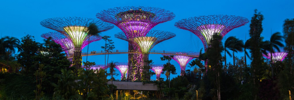 Gardens by the Bay - SuperTree Grove in Singapur